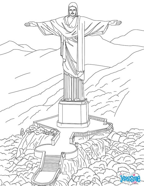 chambre arles gogh coloriages statue du corcovado fr hellokids com