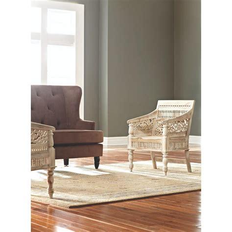 Home Decorators Collection Maharaja Sandblasted White Wood