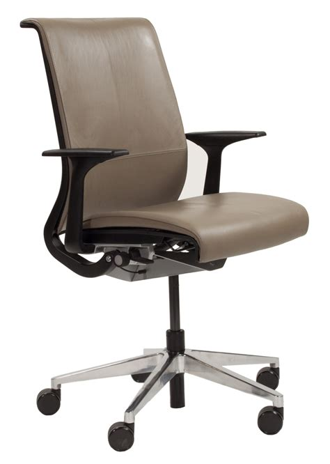 steelcase think used leather task chair balsam national