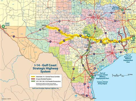 highway texas interstate louisiana coast gulf map txdot strategic system future including 190 westcentralsbest plans current plan usa bushell gary