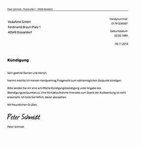 Kündigung Eigenbedarf Frist : k ndigung handyvertrag vodafone vorlage k ndigung ~ Lizthompson.info Haus und Dekorationen