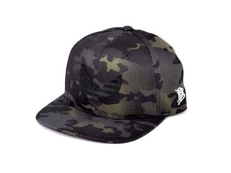 midnight eagle snapback hat usa leather patch
