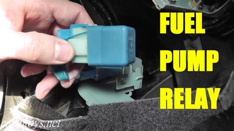 nissan serena 2006 fuel pump relay testing and replacement youtube