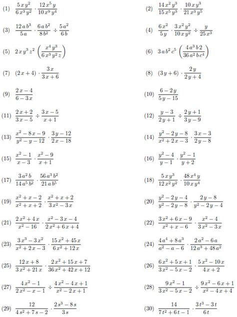 simple rational equations worksheet worksheets for all