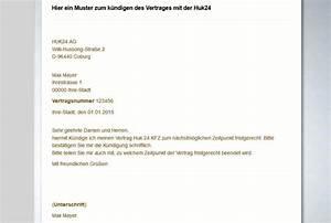 Huk24 Autoversicherung Berechnen : kfz versicherung k ndigen muster design ~ Themetempest.com Abrechnung