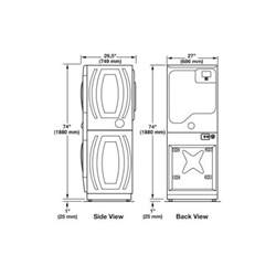 dimension stackable washer dryer search c u a