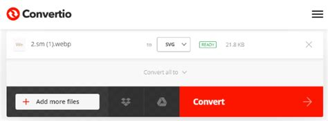 Apply any image editing options you might need or want. Online Convert WEBP to SVG Using Free Websites