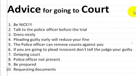 Court You What To Say At Traffic Court Youtube