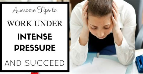 How to Work Under Intense Pressure and Succeed? - WiseStep