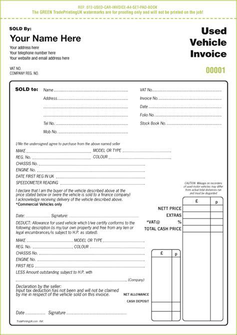 automobile invoice template dascoopinfo