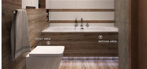 Long Narrow Bathroom Design, Modern Design White Bathroom