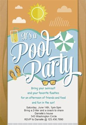 pool party printable invitation template