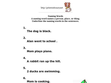 all worksheets 187 naming words worksheets for grade 1