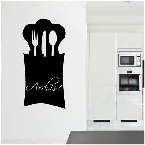 stickers pour cuisine pas cher stickers ardoise cuisine couverts pas cher