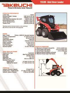 takeuchi tsv specifications machinemarket