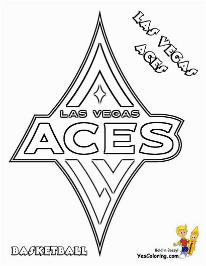 Coloring Basketball Aces Vegas Las Pages Yescoloring
