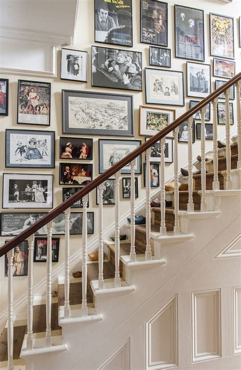 stairway gallery wall ideas    inspired