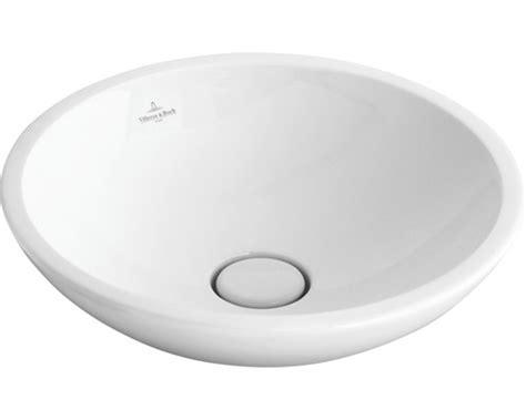aufsatzwaschbecken rund 28 cm villeroy boch aufsatzwaschbecken loop rund flach 43 cm wei 223 51440001 bei hornbach kaufen