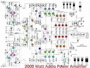 2000w High Power Amplifier 2sc5359 2sa1987