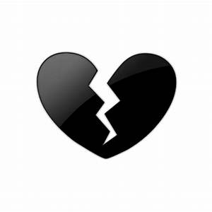 Black Broken Heart Clipart - Clipart Suggest