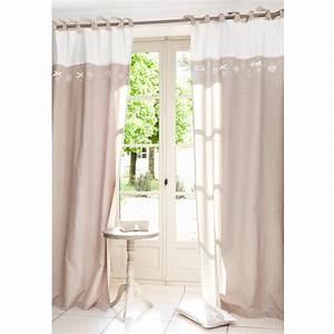 Rideau A Nouette : rideau nouettes en coton beige 105 x 250 cm hearty maisons du monde ~ Teatrodelosmanantiales.com Idées de Décoration