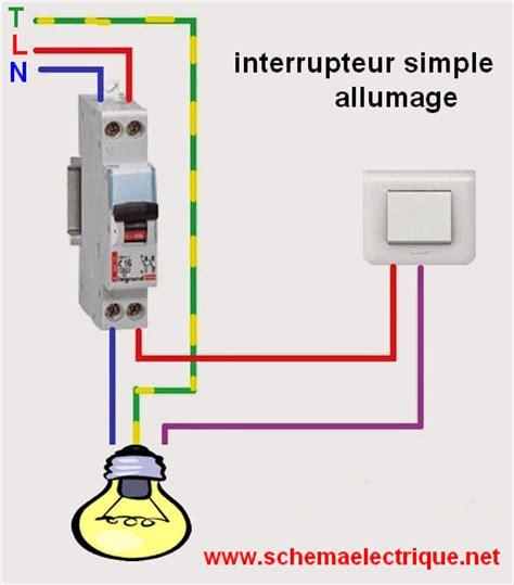 schema electrique chambre schéma électrique interrupteur simple allumage branchement