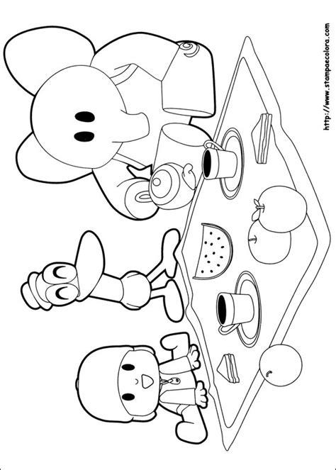 disegni da colorare mini cuccioli yoyo disegni de pocoyo