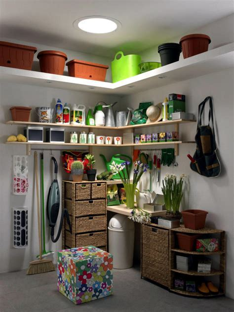 The storage area for garden tools   Interior Design Ideas