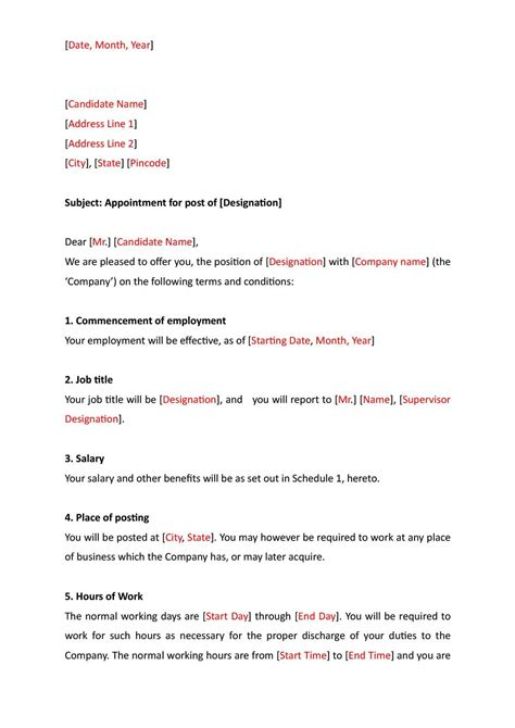 ngo appointment letter format hindi template  job offer