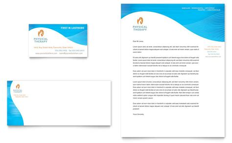 physical therapist business card letterhead template design