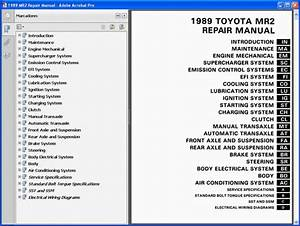 Toyota Mr2 Mk1 Service Manual
