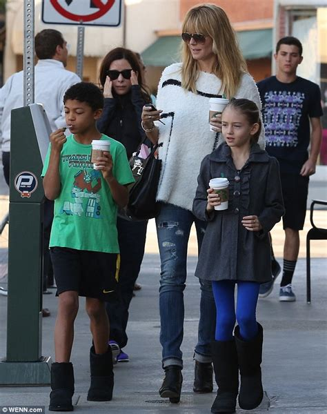 She appeared on the cover of the sports illustrated swi. Heidi Klum gets coffee with kids as she prepares for new season of Germany's Next Top Model ...