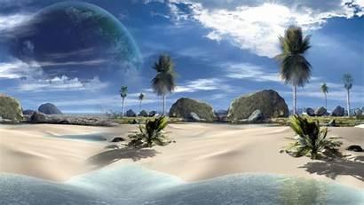 Beach 3d Desktop Tropical Landscapes Wallpapers Landscape