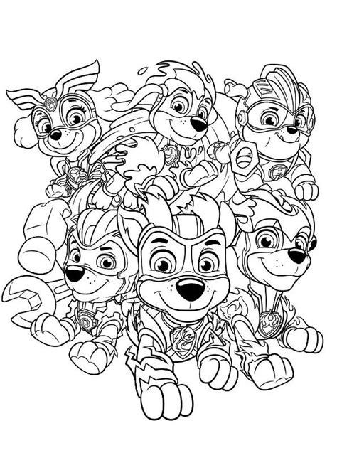 Kids n fun com Coloring page Paw Patrol Mighty Pups