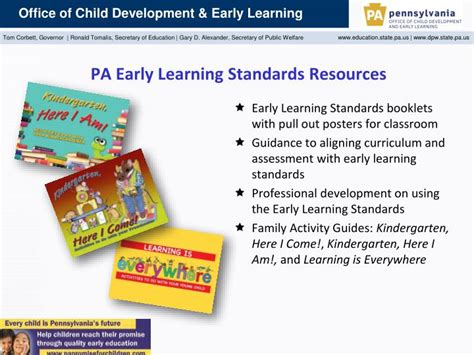 ppt office of child development and early learning 925 | pa early learning standards resources n
