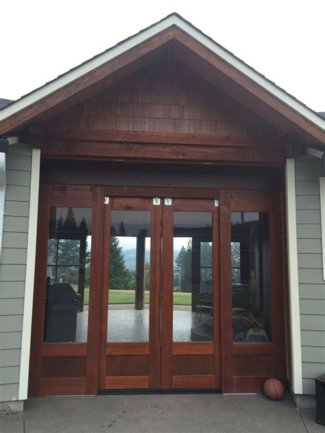 exterior barn doors  glass home construction remodel