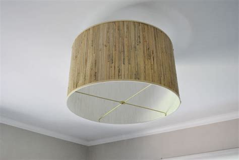 savvy housekeeping 187 diy oversized l shade fixture