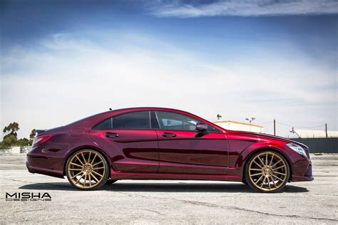 burgundy lexus with black rims misha designs mercedes cls trying to pull off burgundy