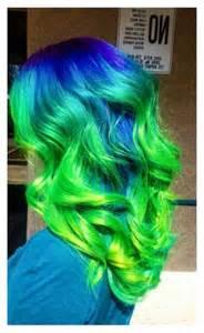 Blue Green Ombre Hair