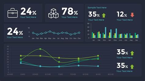 sales dashboard powerpoint template  keynote slidebazaar