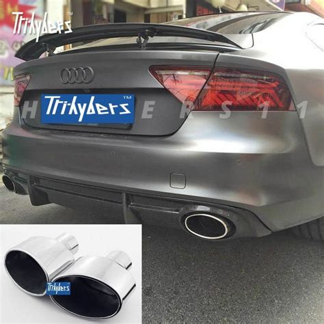 inlet duplex oval exhaust tip  audi rs tt rs rs