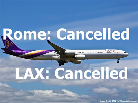 Thai Airways To Cancel Flights To Los Angeles & Rome From
