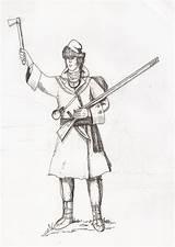 War Years Seven Officer Canadian Indiana Coloring Uploaded Visita Tomahawk Flintlock sketch template