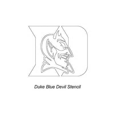 Duke Devils Devil Stencil Basketball Coloring Pages