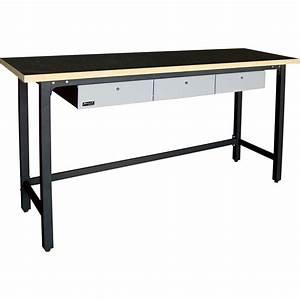 Homak 79in Steel Workbench — 78 3/8in W x 23 5/8in D x 42