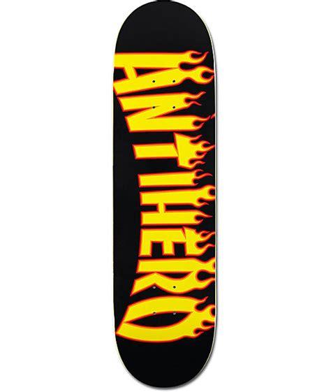 anti hero flaming skate co 8 38 quot skateboard deck at zumiez