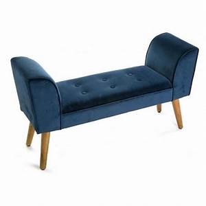 Bout De Lit Capitonné : banc bout de lit velours bleu capitonn baroque versa mosa ~ Melissatoandfro.com Idées de Décoration