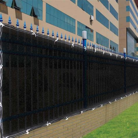 privacy cover for fence 4 x50 fence screen cover green black flat fabric slat mesh privacy windscreen ebay