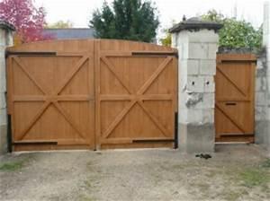 comment fabriquer des portails en bois bricobistro With fabriquer un portail de jardin en bois