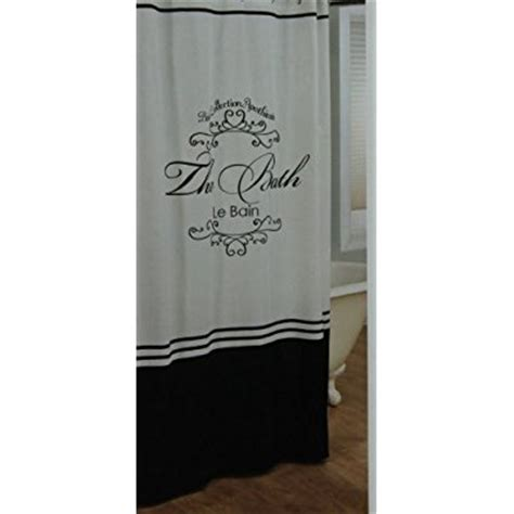 toulouse black and white fabric shower